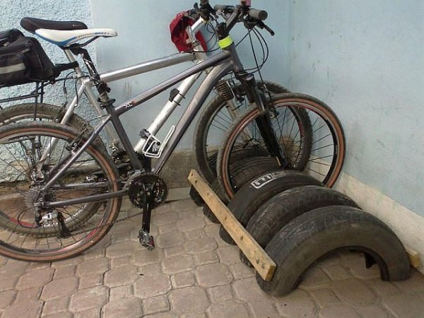 Стоянка велосипеда своими руками